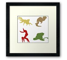Wildlife - Oddworld Coloured Silhouettes Framed Print