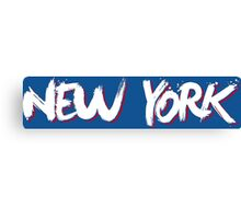 New York: Blue Canvas Print