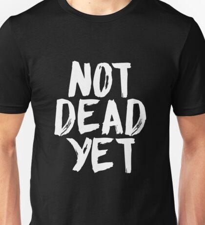 Not Dead Yet - Frank Turner Inspired T-Shirt (White) Unisex T-Shirt