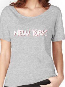 New York: Blue Women's Relaxed Fit T-Shirt