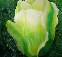 White Tulip by Marilyn Healey
