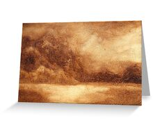 Sepia Landscape Greeting Card