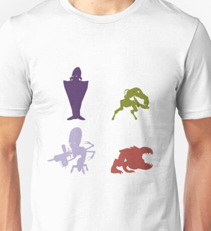 Industrialists - Oddworld Coloured Silhouettes Unisex T-Shirt