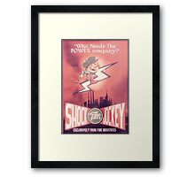 BioShock Infinite – Shock Jockey Poster Framed Print