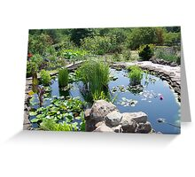 Lily Pond at the Frey Farm Greeting Card