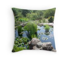 Lily Pond at the Frey Farm Throw Pillow