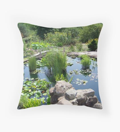 Lily Pond at the Frey Farm Throw Pillow