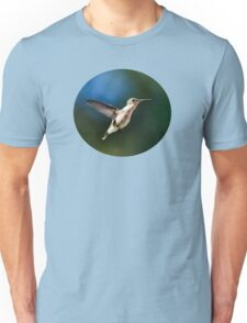 Humming bird with Pink Flowers Unisex T-Shirt