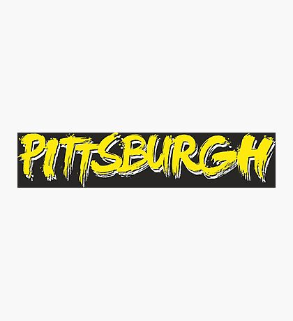 Pittsburgh: Black and Yellow Photographic Print