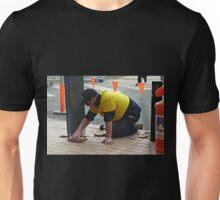 Men at work at Plaza Shopping Mall Unisex T-Shirt