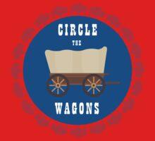 Circle the Wagons - Buffalo Bills One Piece - Short Sleeve