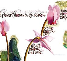 Japanese Haiku - Cyclamen by Dave Wood
