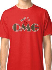 OMG What? Funny & Cute ladybug line art Classic T-Shirt