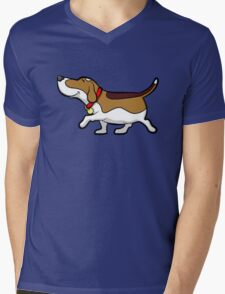 Happy Beagle Mens V-Neck T-Shirt