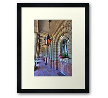Palace arcade Framed Print