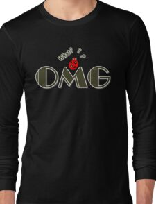 OMG What? Funny & Cute ladybug line art Long Sleeve T-Shirt