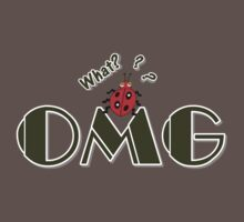 OMG What? Funny & Cute ladybug line art Kids Clothes