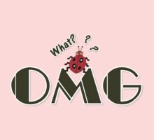 OMG What? Funny & Cute ladybug line art Kids Tee