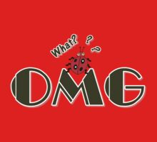 OMG What? Funny & Cute ladybug line art One Piece - Short Sleeve