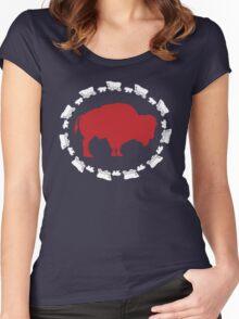Buffalo Bills - Circle the Wagon Women's Fitted Scoop T-Shirt