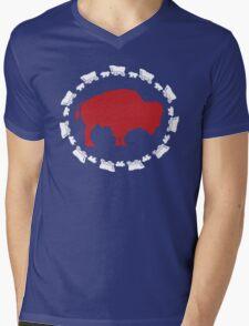 Buffalo Bills - Circle the Wagon Mens V-Neck T-Shirt