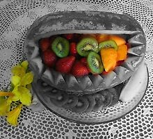 Selective Coloring- Water Melon Basket by Linda Miller Gesualdo