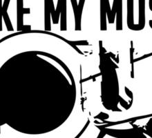 i like my music LOUD Sticker