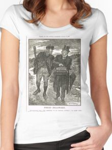 Socialism & Old Liberalism Punch 1909 Women's Fitted Scoop T-Shirt