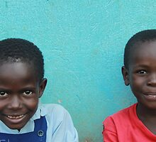 Young Couple Sitting at School - Buyantetee, Uganda by maddy31