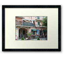 Washing - Monterosso, Italy Framed Print