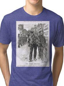 Bernard Partridge Suffragette Punch Cartoon 1908 Tri-blend T-Shirt
