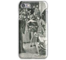 Joan of Arc kneeling before Charles VII Circa 1429 iPhone Case/Skin