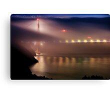 Golden Gate Fog Canvas Print