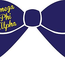 Omega Phi Alpha Bow Design by Margaret Young
