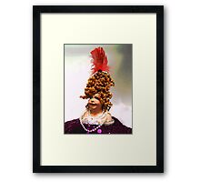 Lady with a Red Feather Framed Print