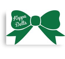 Kappa Delta Green Bow Canvas Print