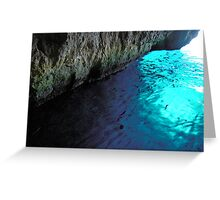 Fishes in the cave Greeting Card
