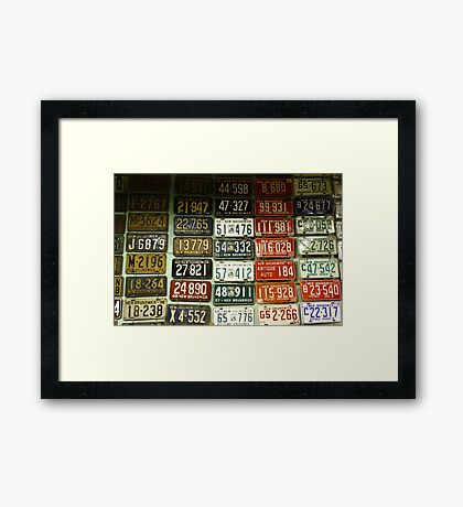 Wall of Plates Framed Print