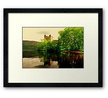 """""""URQUHART CASTLE""""[loch ness] Framed Print"""