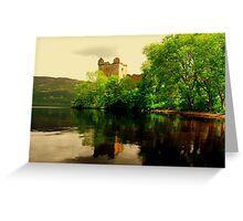 """URQUHART CASTLE""[loch ness] Greeting Card"