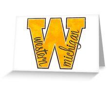Western Michigan W Greeting Card