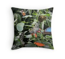 Jungle of Butterfly's Throw Pillow
