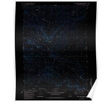 USGS Topo Map Oregon Black Rock Spring 279055 1981 24000 Inverted Poster