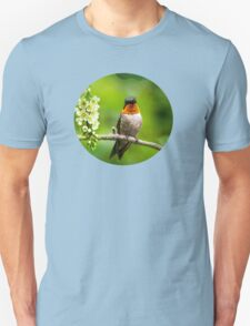 Spring Hummingbird Art T-Shirt