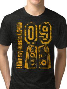 i like my music LOUD - Grunge Tri-blend T-Shirt