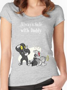 BioShock - Always Safe With Daddy Poster (White) Women's Fitted Scoop T-Shirt