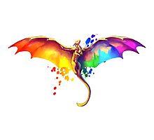 Pride Dragon Photographic Print
