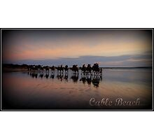 Cable Beach Train Photographic Print