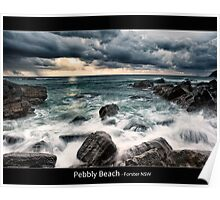 Pebbly Beach - Forster NSW Poster