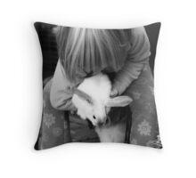 Wascally wabbit Throw Pillow